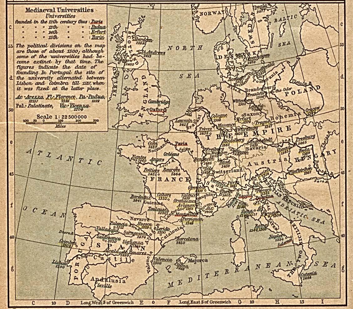 European Medieval Universities