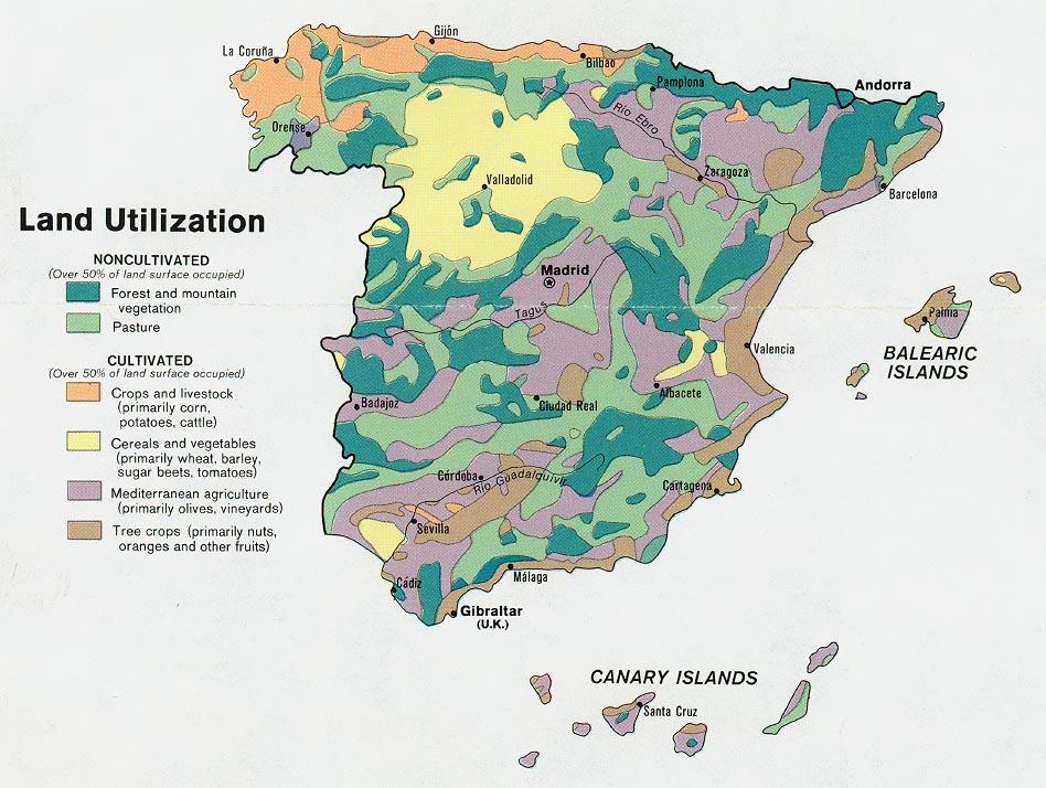 Utilización del Suelo España 1974