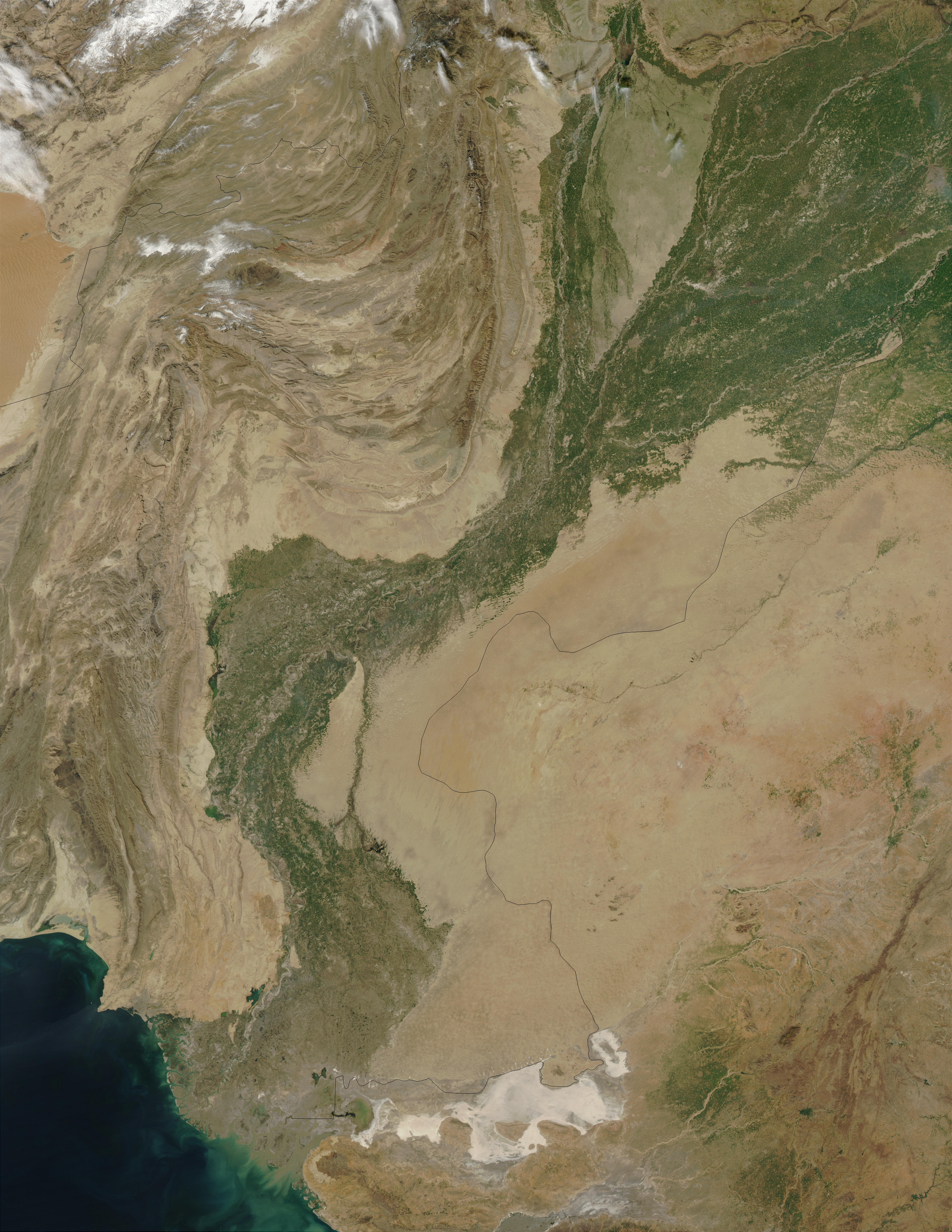 The Indus River Valley, Pakistan