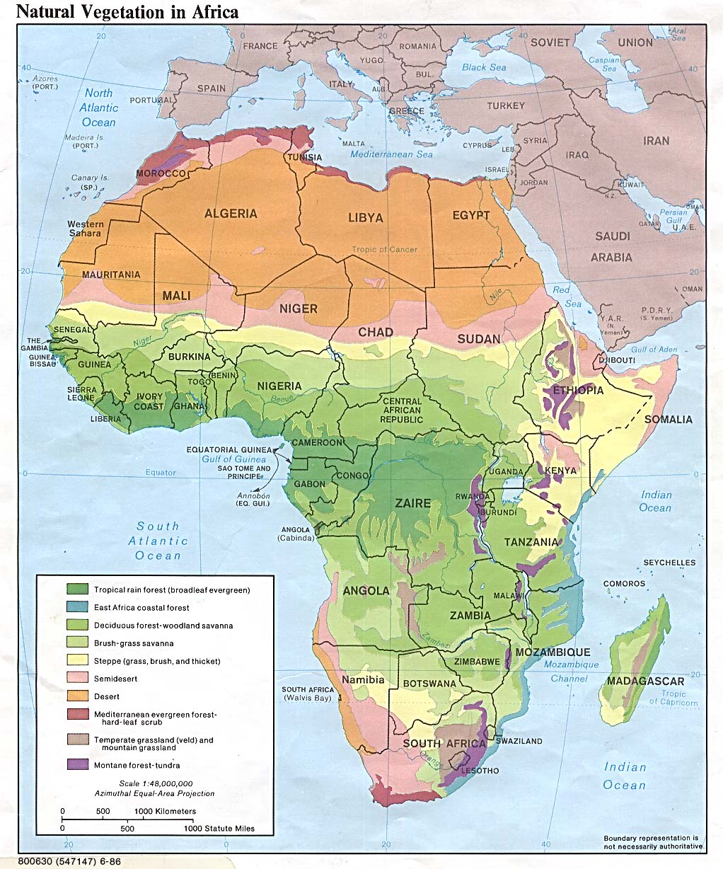 Africa Natural Vegetation 1986