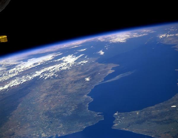 Satellite view of the Strait of Gibraltar