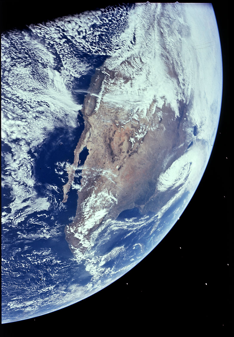 North America view from Apollo 16