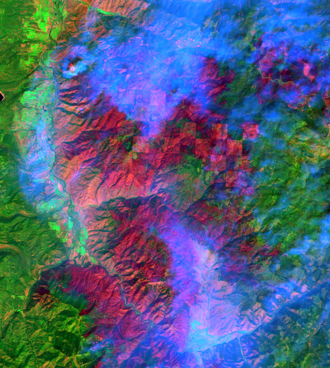 High-res View of the Montana Fires