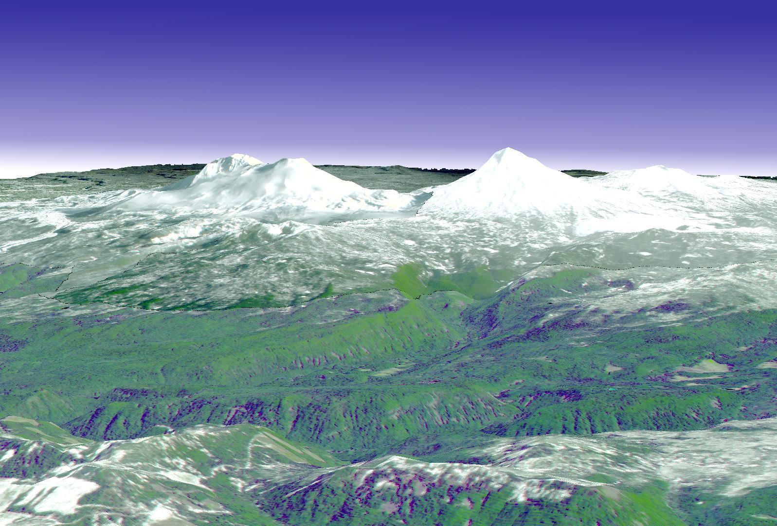 Volcanes las tres hermanas en Oregón