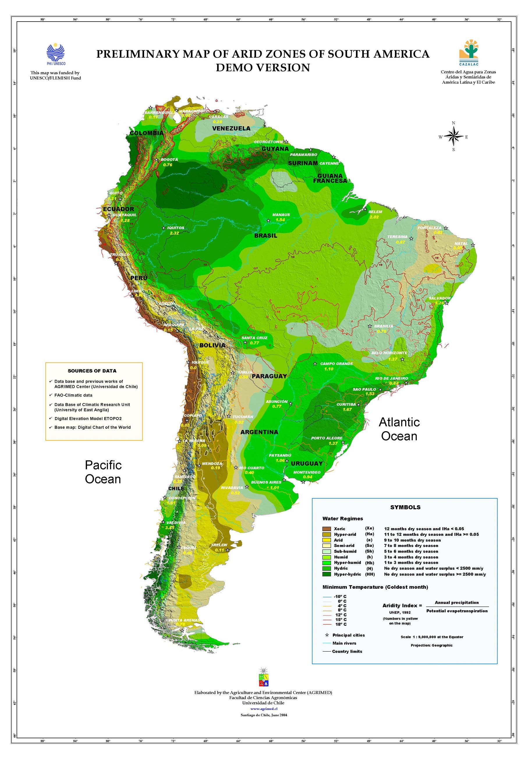 Zonas áridas de América del Sur 2004