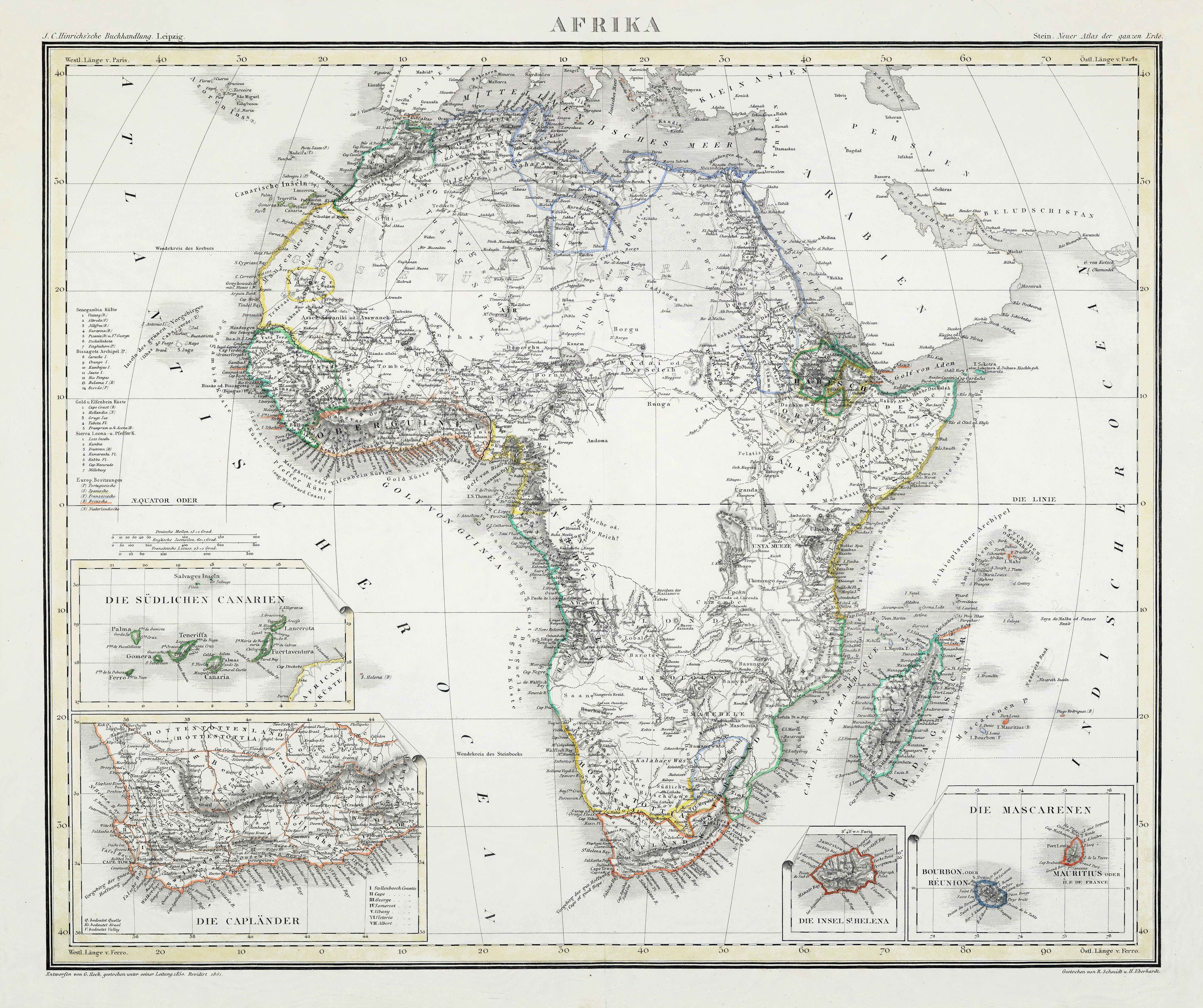 Africa in 1861