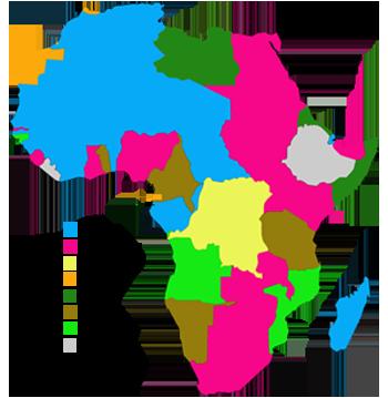 África en la era colonial en 1914