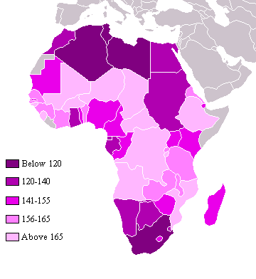 African countries Human Development Index (HDI) 2004