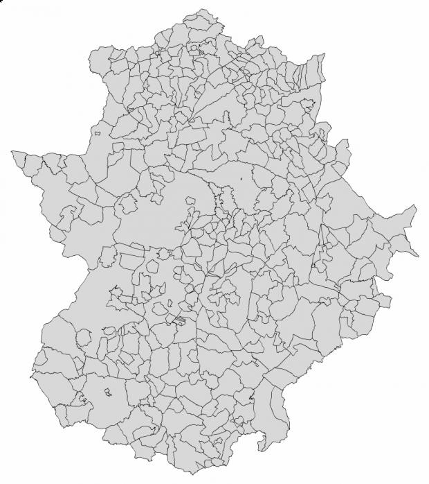 Municipios de Extremadura 2003