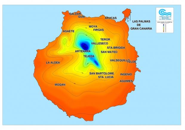 Precipitación media anual en Gran Canaria