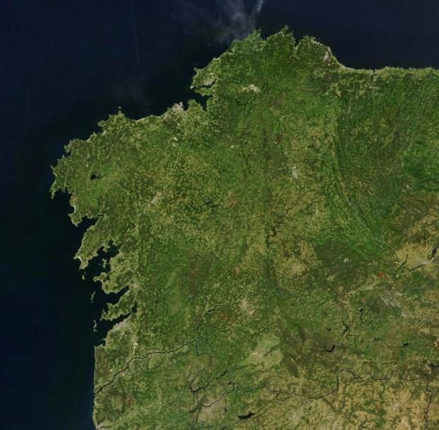 Mapa de Galicia (satelital)