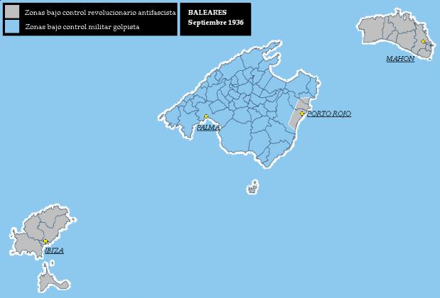 Islas Baleares septiembre 1936