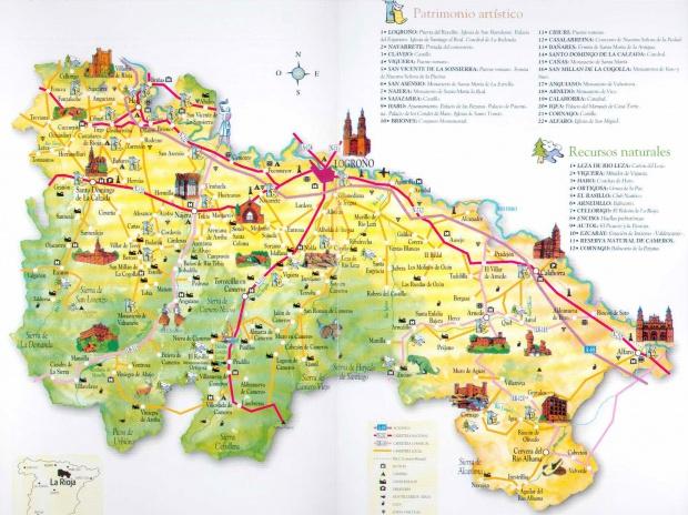 Mapa turístico de La Rioja