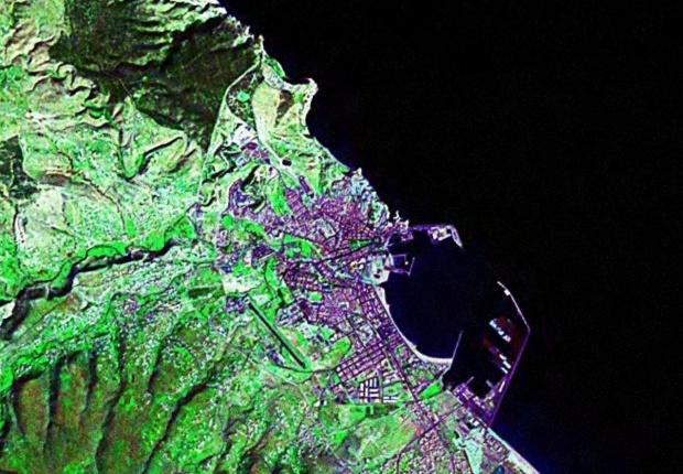 Mapa satelital de Melilla