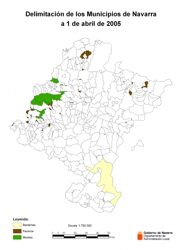 Municipal demarcation of Navarre 2005