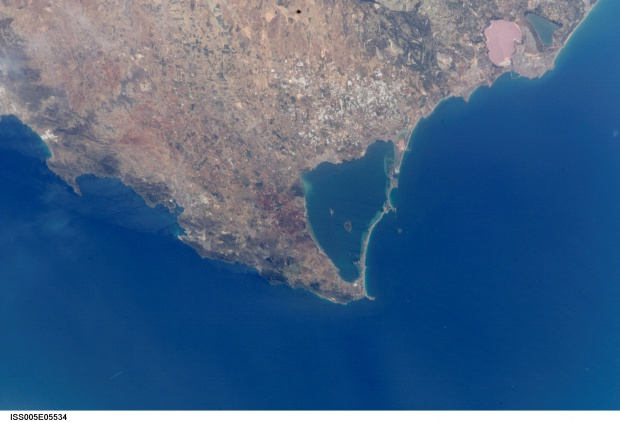 Vista por satélite del Mar Menor