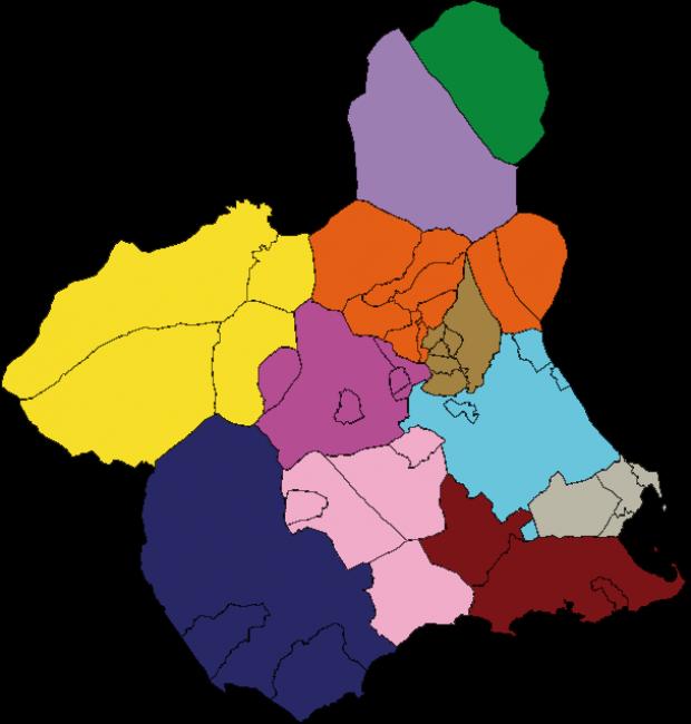 Partidos Judiciales de la Región de Murcia 2007