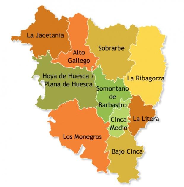 Comarcas de la provincia de Huesca