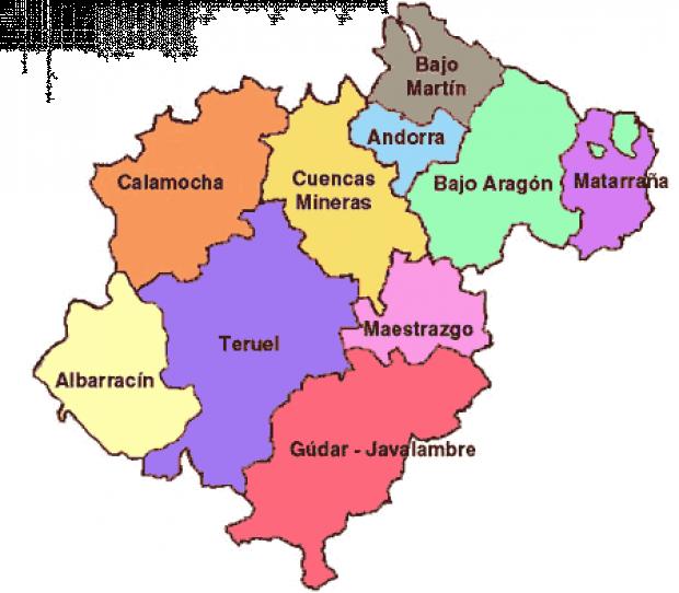 Comarcas de la Provincia de Teruel