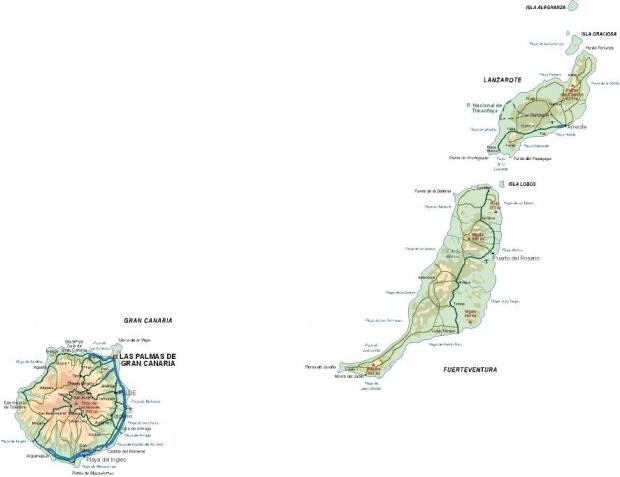 Mapa de la Provincia de Las Palmas