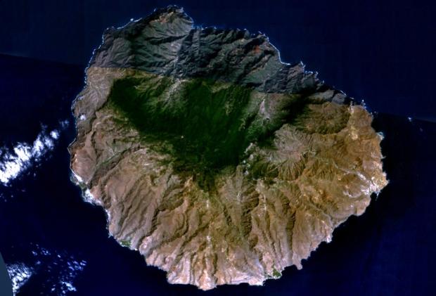 Imagen, Foto Satelite de la Isla La Gomera