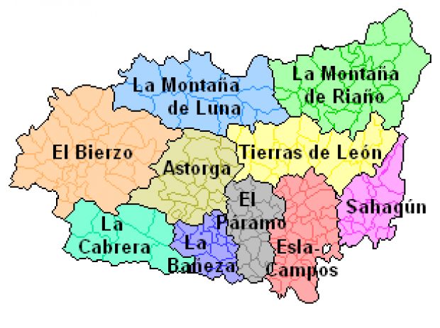 Comarcas de la provincia de León 2006