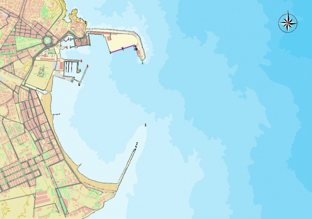Melilla port map