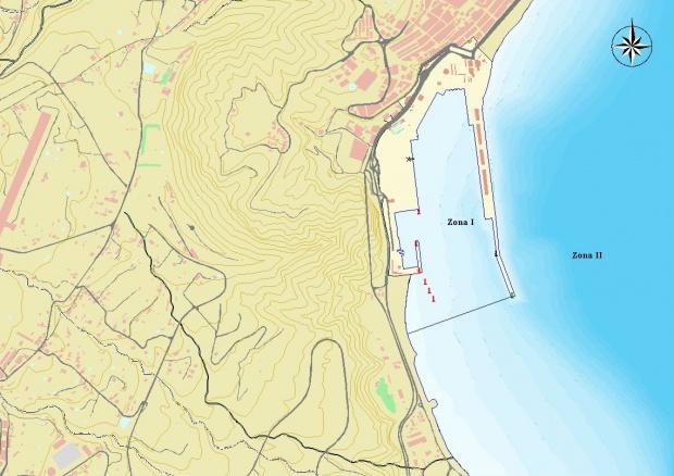 Mapa del puerto de Santa Cruz de La Palma