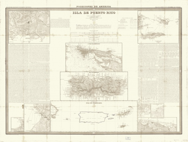 Puerto Rico Island 1851