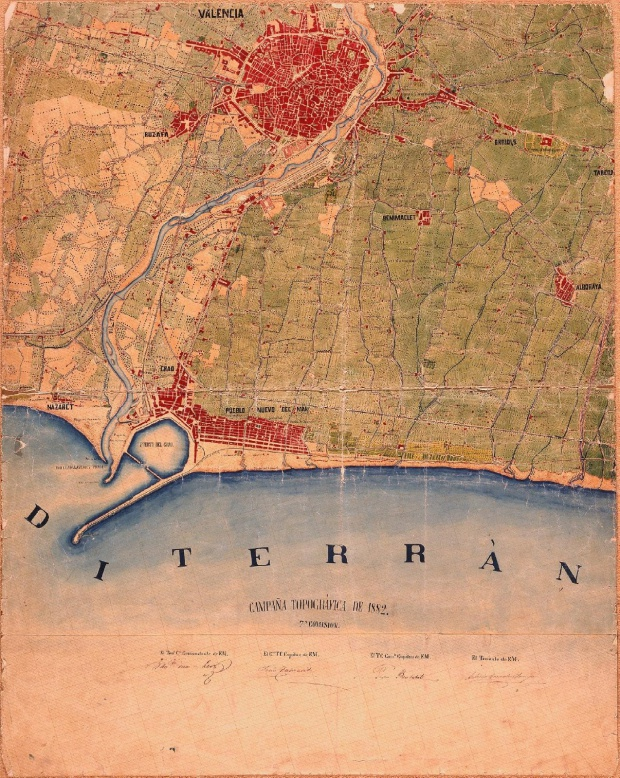 Map of Valencia and its environs 1882