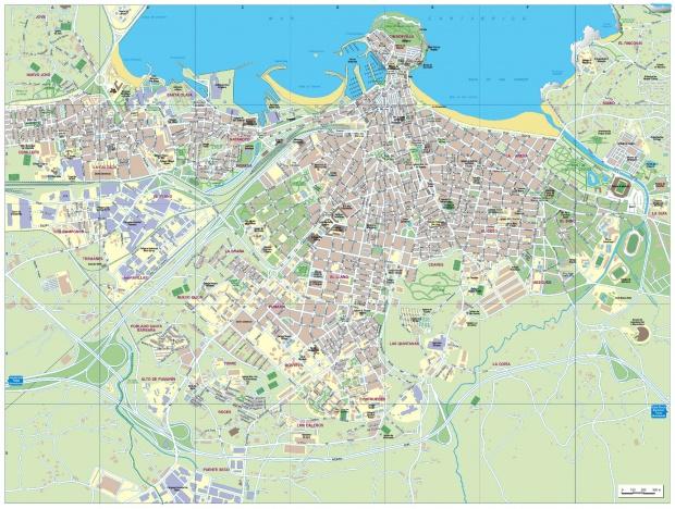 Mapa de Gijón