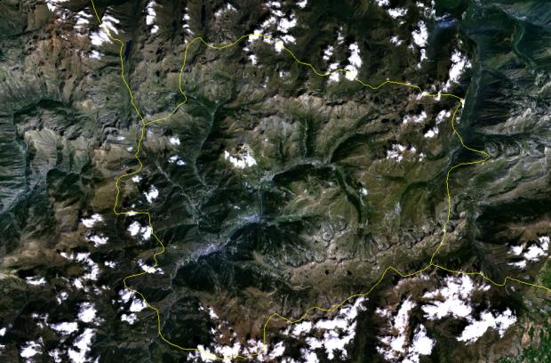 Satellite image of Andorra