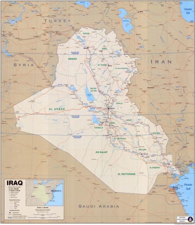 Iraq Political Map 2004