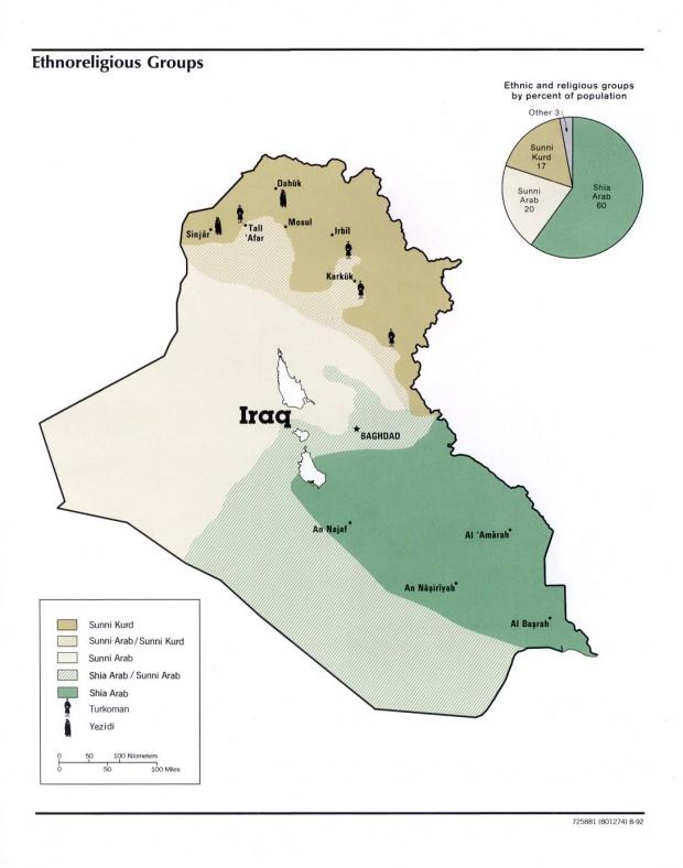 Ethnoreligious Groups of Iraq 1992