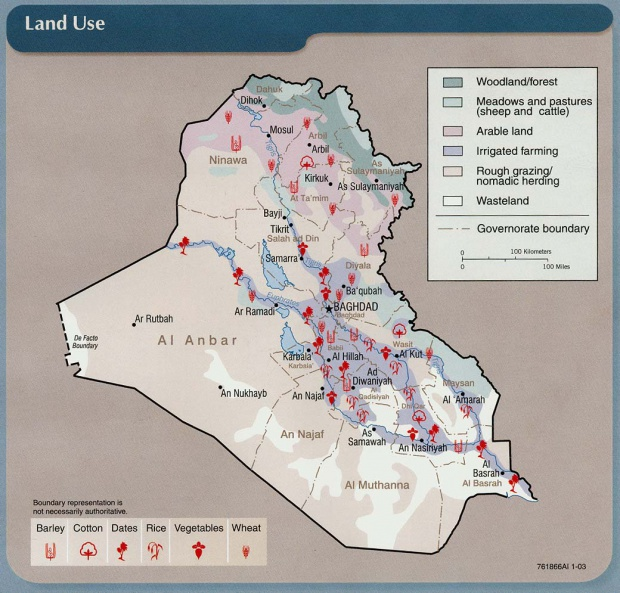 Land Use in Iraq 2003