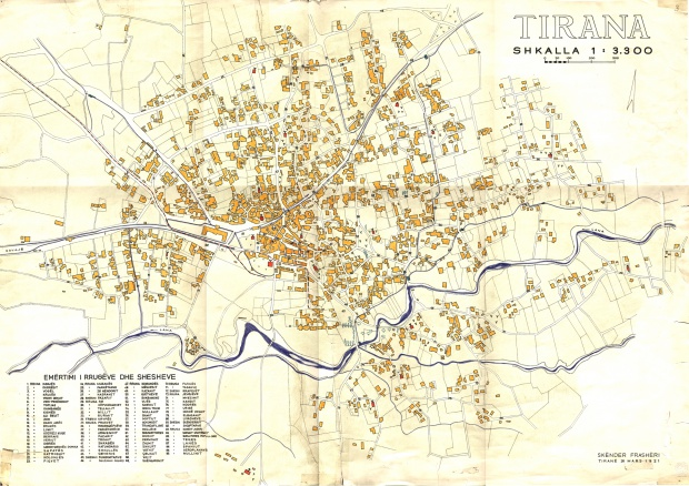 Mapa de Tirana 1921