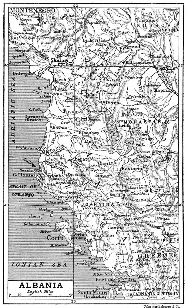 Map of Albania 1906