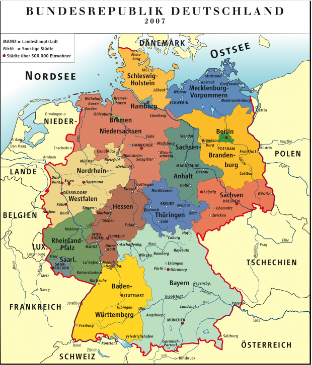 Germany map 2007