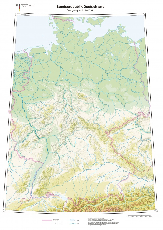 Hydrographic map of Germany 2011