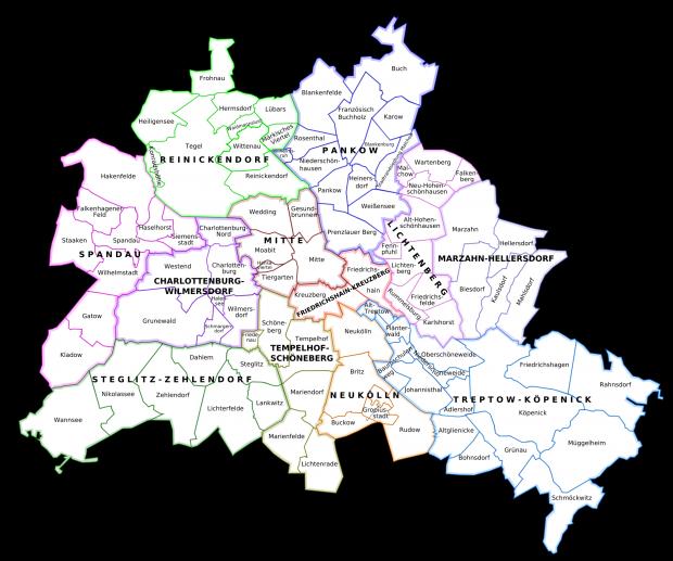 Distritos administrativos de Berlín 2007