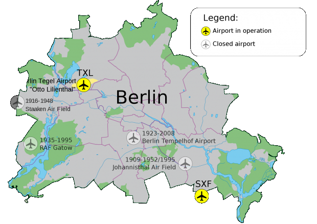Berlin airports 2009