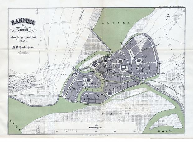 Hamburgo en 1320