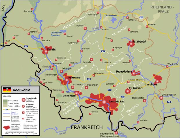 Mapa del Sarre 2005