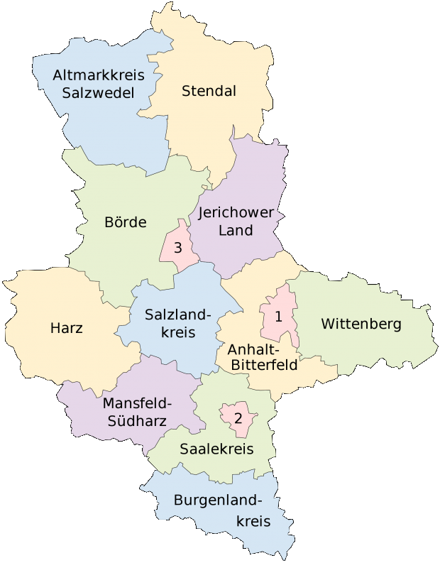 Mapa de Sajonia-Anhalt 2008