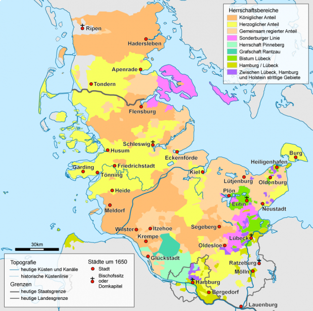 Schleswig-Holstein, después de 1650