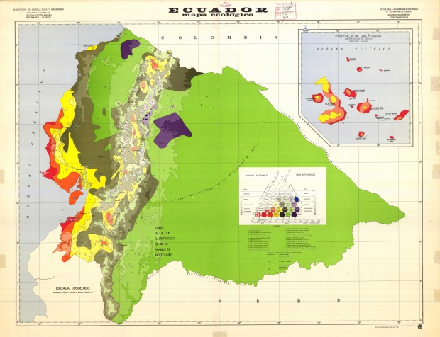 Ecological map of Ecuador 1978