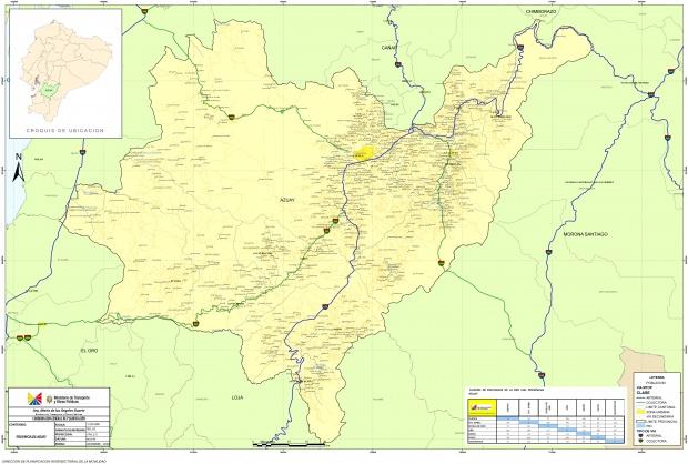 Mapa de Azuay 2010