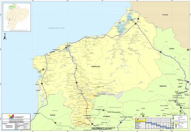 Mapa de Esmeraldas 2010