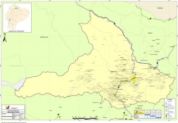Mapa de Imbabura 2010