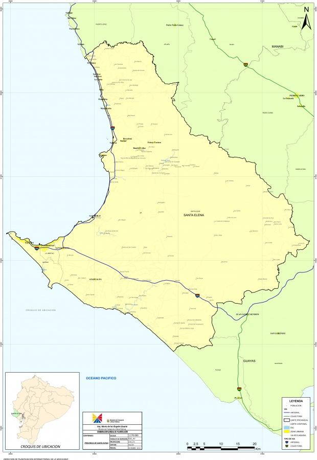 Mapa de Santa Elena 2010